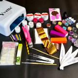 Kit complet unghii false,gel color,gel neon