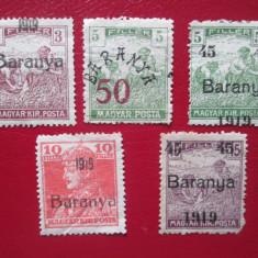 TIMBRE ROMANIA UNGARIA OCUPATIE SERIE NEUZATA, An: 1919, Nestampilat