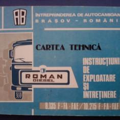 Carte tehnica Autocamioane Roman Brasov / C45P - Carti auto