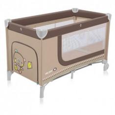 Patut Pliabil Cu 2 Nivele Holiday 09 Beige - Patut pliant bebelusi Baby Design