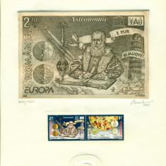 Timbru Gravat - Europa astronomie - Octavian Penda 2009