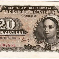 20 lei 1950 bancnota UNC (1) - Bancnota romaneasca