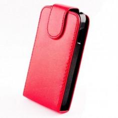 Husa piele Sligo Microsoft Lumia 435 Rosu - Husa Telefon Nokia