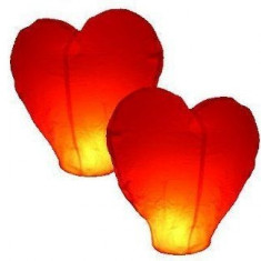 Set 5 lampioane zburatoare inimioare