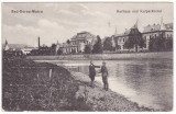 #1943- Romania, Vatra Dornei carte postala necirculata 1918: Baile, hotelul, Fotografie