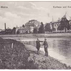 Romania, Vatra Dornei carte postala necirculata: Baile, hotelul - Carte Postala Bucovina 1904-1918, Fotografie