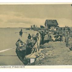540 - Dobrogea, Danube, TULCEA, romanien fishermen - old postcard - unused