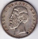 Regele Carol I. 5 lei 1880 Kullrich pe cerc argint