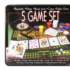 Set poker si ruleta 5in1