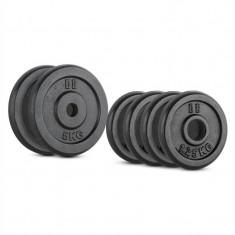 CAPITAL SPORTS IPB 15 KG, Set de greutăți, 4 x 1, 25 kg și 2 x 5 kg, 30 mm - Benzi magnetice