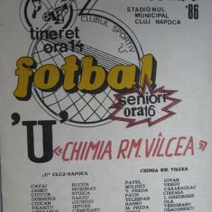 Universitatea Cluj Napoca - Chimia Rm. Valcea (30 martie 1986) - Program meci