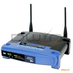 Linksys Wireless Broadband Router 802.11g , 4 x 10/100 ports LAN, 2 x external antenna, Wi-Fi Prote