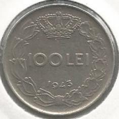 ROMANIA MIHAI I - 100 LEI 1943 [2] livrare in cartonas - Moneda Romania, Fier