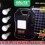 Kit panou solar pentru iluminare cu lanterna,4 becuri,radioFM,Mp3 GD8025