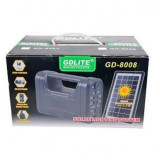 Kit sistem iluminare GD Lite GD8008 cu 3 becuri, panou solar, lanterna 1W LED