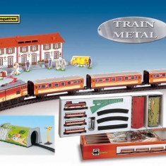 Trenulet Pequetren Electric Calatori, Cu Statie Si Tunel, Seturi complete
