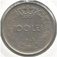 ROMANIA MIHAI I - 100 LEI 1943 [3] livrare in cartonas - Moneda Romania, Fier