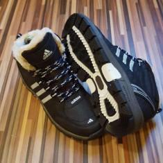 Bocanci Adidas Outlet negru - Bocanci barbati Adidas, Marime: 40, 41, 42, 43, 44, Culoare: Din imagine, Textil