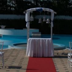 Pergola lemn evenimente - Decoratiuni nunta
