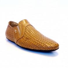 Pantofi barbati din piele Cesare Paciotti marimea 41 - Pantof barbat Cesare Paciotti, Culoare: Maro, Piele naturala