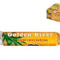 Golden River round coco charocal - Arome narghilea