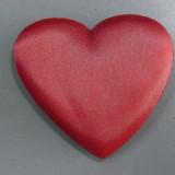 Inima de saten rosu cu burete la interior
