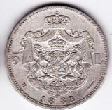 Regele Carol I. 5 lei 1882 argint