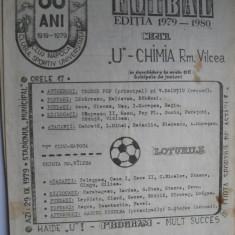 Universitatea Cluj Napoca - Chimia Rm. Valcea (29 septembrie 1979) - Program meci