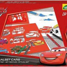 Set Sabloane Cars Cu Creioane Colorate - Jocuri arta si creatie Lena