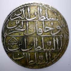 E.284 TURCIA MAHMUD I 1 KURUSH 1143/1730+ ARGINT 23, 3g - Moneda Medievala, Europa