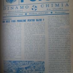 Dinamo Bucuresti - Chimia Rm. Valcea (5 octombrie 1986) - Program meci