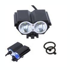 Far bicicleta 2 led-uri tip lanterna frontala MXT62
