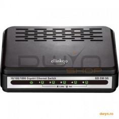 D-Link, Switch Desktop 5 porturi 10/100/1000, plastic, D-LinkGO