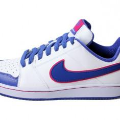 Adidasi originali NIKE BACKBOARD - Adidasi copii Nike, Marime: 36, 37, 37.5, 38, 38.5, Culoare: Alb, Unisex, Piele naturala