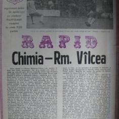 Rapid Bucuresti - Chimia Rm. Valcea (20 aprilie 1985) - Program meci