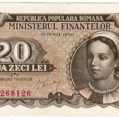 20 lei 1950 bancnota UNC (2)
