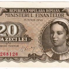20 lei 1950 bancnota UNC (2) - Bancnota romaneasca