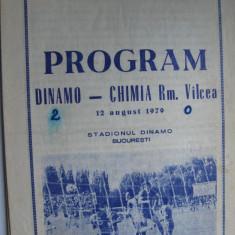 Dinamo Bucuresti - Chimia Rm. Valcea (12 august 1979) - Program meci