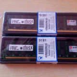 Kit Memorie Ram PC Kingston 2x4gb(8gb)ddr2 800mhz, CL6, PC2-6400, NOI Sigilate., Dual channel