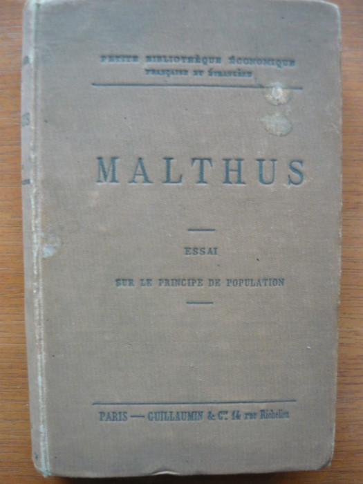 Malthus - Essai sur le principe de population