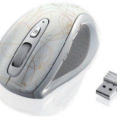 Mouse optic wireless I-BOX GOLD, alb, Optica