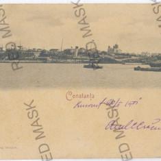 3480 - Litho, CONSTANTA, Panorama - old postcard - used - 1901 - Carte Postala Dobrogea pana la 1904, Circulata, Printata