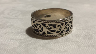 Inel Argint Celtic Lat Tip Verigheta Elegant Finut De Efect Executat