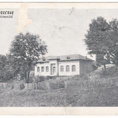 #1949- Romania, Baile Vulcana, carte postala circulata: 1930: Scoala Primara