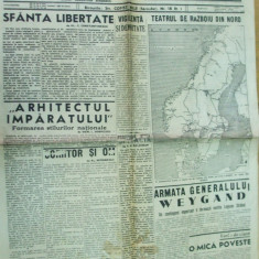 Semnalul 19 aprilie 1940 Dobrescu Maniu Mihalache straja tarii Panait Istrati - Ziar