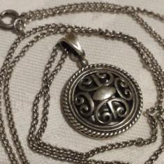Medalion argint CELTIC vechi Finut Splendid Elegant vintage pe Lant argint