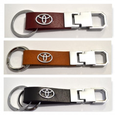 Breloc Toyota piele naturala - Breloc Auto