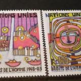 NATIUNILE UNITE GENEVA 1983 – DREPTURILE OMULUI, serie nestampilata UN36 - Timbre straine