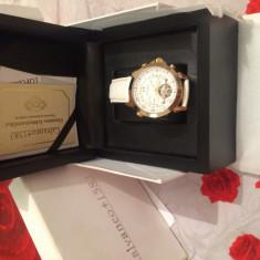 Vând ceas automatic placat cu aur si diamante - Ceas barbatesc Calvaneo, Mecanic-Automatic