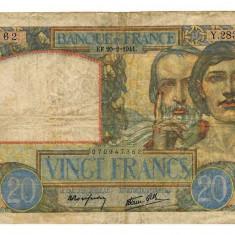 FRANTA 25 FRANCI FRANCS 1941 F - bancnota europa